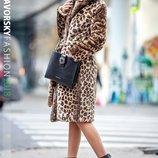 Шуба леопардовая с поясом 42,44,46,48 размеры люкс качество Фото оригинал