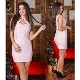 Женское платье 010 в персиковом цвете с, м