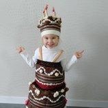 Прокат детский карнавальный костюм торт,тортик,пирог,торта, тортика, пирога, тістечко киев