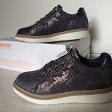 Красивые туфли на девочку Geox, кожа, размер 30