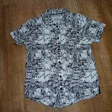 Matalan Черно-Белая рубашка на 8 лет