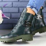 Зимние ботинки из натуральной кожи на меху, код ks-4209-1