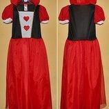 костюм красной королевы 8-11 лет