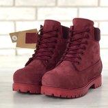 Зимние женские ботинки Timberland Nubuck, женские ботинки. Шерстяной мех