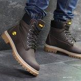 Timberland ботинки мужские зимние кожа шоколадные 6950