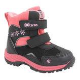 Термо ботинки b&g black pink 25-30р ,r181-605p ,13