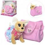 Собачка в сумке Кикки М 3641, сумочка из кожзама