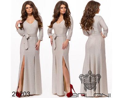 f20433c14132138 Платье вечернее в пол трикотаж с люрексом: 680 грн - женские ...