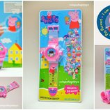 Детские наручные часы-проектор Свинка Пеппа Peppa pig . Хит.