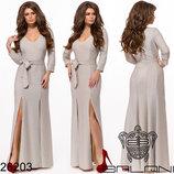 Платье вечернее в пол трикотаж с люрексом
