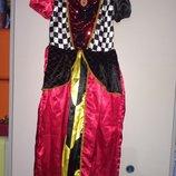 Карнавальное платье красной королевы
