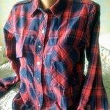 Классная рубашка в клетку Zara М