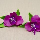 Резинки для волос Орхидея