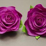 Резинки для волос роза