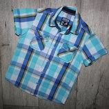 Нарядная стильная шведка рубашка Palomino 5 лет, рост 110 см.