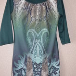 116 платье зеленое со стразами