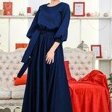 Платье в пол вечернее Ванесса до 60 р. синее