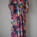 Длинное красивое шифоновое платье с принтом River Island