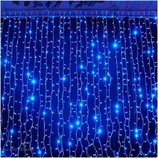 Гирлянда светодиодная водопад LED 480 лампочек, 3м x 2 м синяя