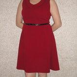 Шикарное фактурное платье марсала