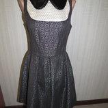Жаккардовое платье topshop. 8 xs