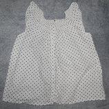 Белый сарафан H&M в мелкий черный горошек. На девочку 6-7 лет. Рост 116-122 см.