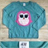 Новый свитерок кофточка H&M для девочки бирюзового цвета 6 мес-3 года
