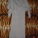 Платье в черно-белую полоску atmosphere р.8,97%вискоза,3%эл.