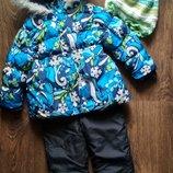 Зимний комплект куртка и комбинезон для девочки. Шапка в подарок.
