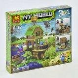 Конструктор Lele 33220 Minecraft Майнкрафт 3 в 1 В поисках сокровищ 279 деталей