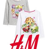 Брендовані реглани Shopkins для дівчат від 2-10 років від H&M Швеція