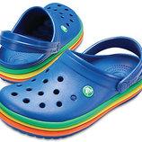 Кроксы Crocs Rainbow Band р. м9 и м10. Оригинал