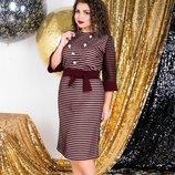 Платье бордо р-р 48-62