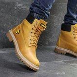 Зимние мужские ботинки Timberland ginger, кожа