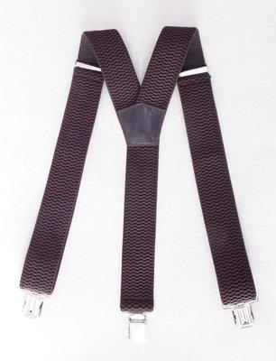 Широкие коричневые подтяжки мужские арт. 506