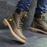 Зимние мужские ботинки Timberland brown, кожа