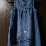 джинсовое платье George на девочку 1.5 - 2 года в идеальном состоянии