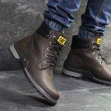 Зимние мужские ботинки Caterpillar brown