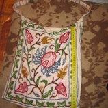 эко сумка с вышивкой