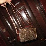 квадратная сумка с бисером