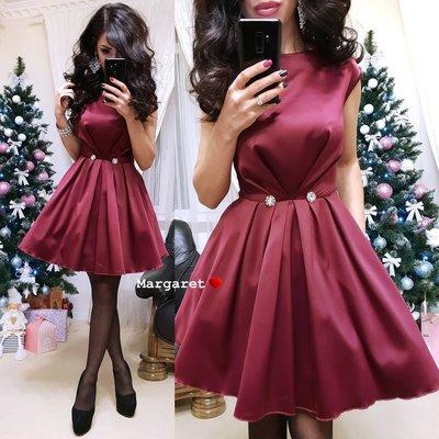 1609eff3ada женское нарядное атласное платье с пышной юбкой мг 8924  700 грн ...