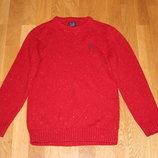 Красный джемпер из узелковой пряжи Next на 8 лет рост 128 см
