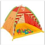 Палатка детская для игр с 40 шариками 112х112х90 см 68080