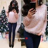 женский пушистый свитер в разных цветах мг 8925