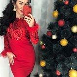 Нарядное ,оригинальное красное и черное платье по фигуре