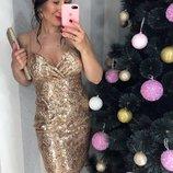 2 цвета сверкающие эффектные коктельные платья