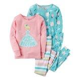 Набор из 2х хлопковых пижам для девочки Carters сказочный сон