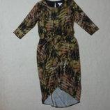 Фирменное модное теплое трикотажное платье