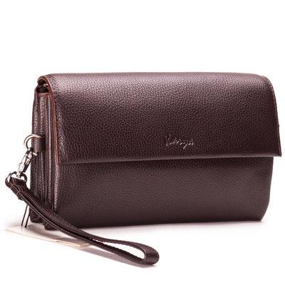 Мужская кожаная сумка барсетка Бесплатная доставка Karya 0696-39 коричневый клатч натуральная кожа
