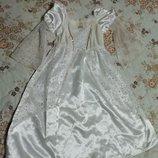 Карнавальное новогоднее платье звездочки Ангела, Снежинки для девочки 3-4года